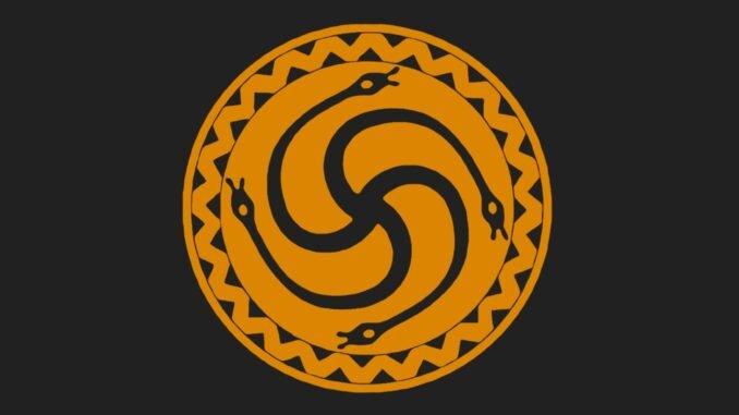 The Flag of the Romuva Pagan religion. Wikipedia