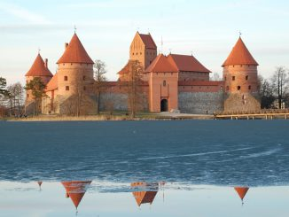 Trakai castle in winter