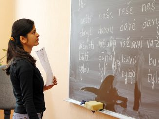 Lithuanian classes at Rukla Refugee Reception Centre