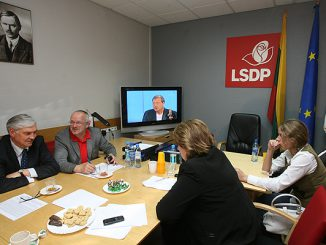 Seimas elections 2008 night at the Social Democrat HQ