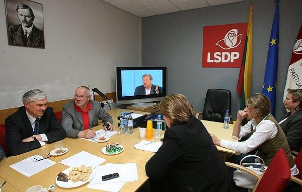 Seimas elections 2008 night at the Social Democrat HQ