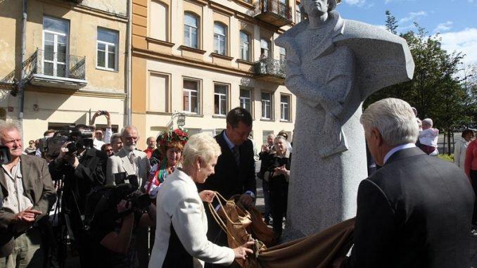 Monument to Taras Shevchenko in Vilnius