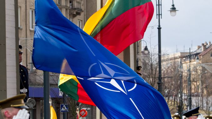 Lithuanian and NATO flags