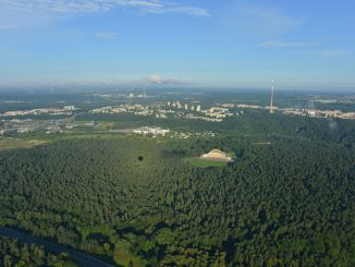 Vilnius from a hot air balloon