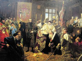 Union of Lublin in 1569.  Painted by Jan Mateika