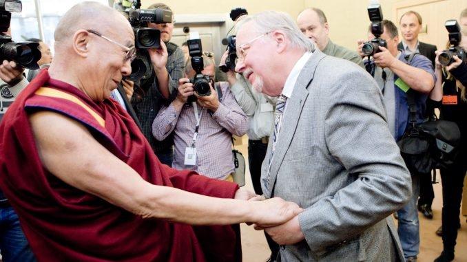 Dalai Lama and Vytautas Landsbergis