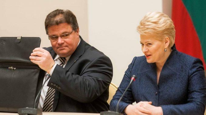 Foreign Minister Linas Linkevičius and President Dalia Grybauskaitė