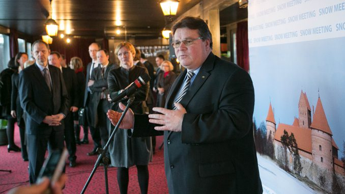 Foreign Minister Linas Linkevičius at 2014 Snow Meeting
