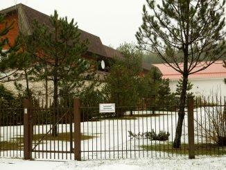 State Security Department building in Antaviliai near Vilnius