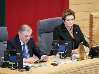 Seimas Speaker Loreta Graužinienė (right)