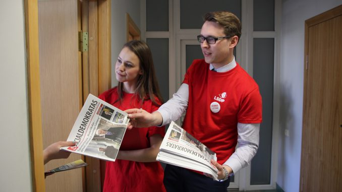 Social Democratic youth during the election campaign