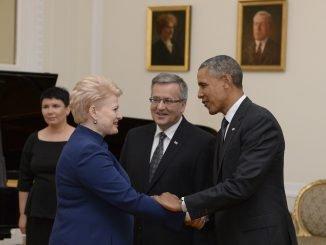 Dalia Grybauskaitė and Barack Obama
