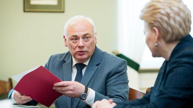 Dailis Alfonsas Barakauskas and President Grybauskaitė