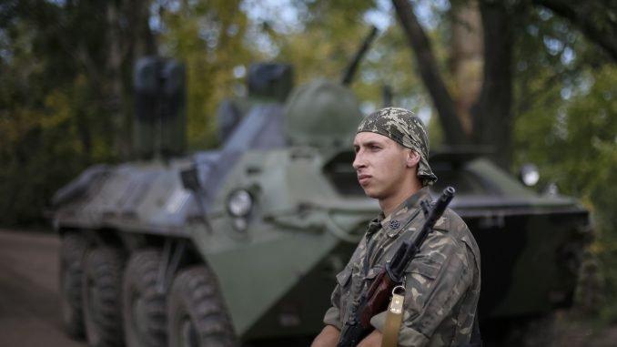 Ukraine's soldiers in Slovyansk