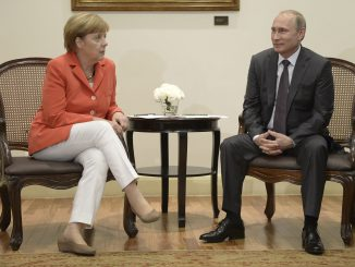 Angela Merkel and Vladimir Putin