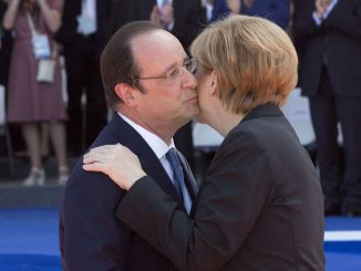François Hollande with Angela Merkel