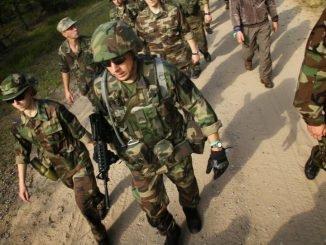 Vilnius' Riflemen training at Pabradė