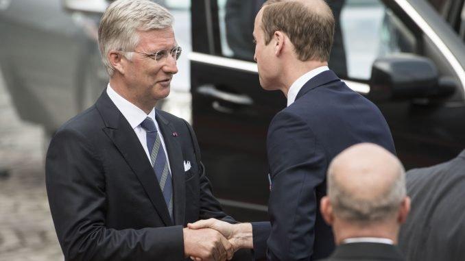 Belgium Prince Philippe and Prince William