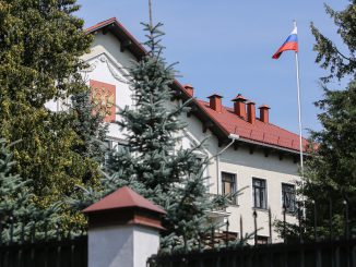 The embassy of the Russian Federation in Vilnius