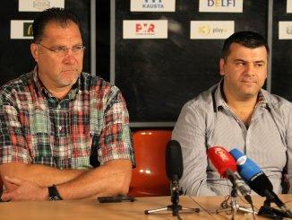 Arvydas Sabonis and Rimvydas Čekavičius