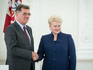 PM Algirdas Butkevičius and President Dalia Grybauskaitė