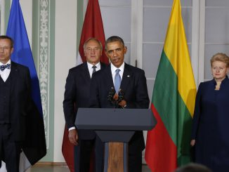 President Grybauskaitė at the meeting with President Obama in Tallinn