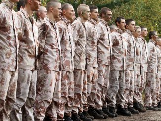 Lithuania's Military Academy cadets