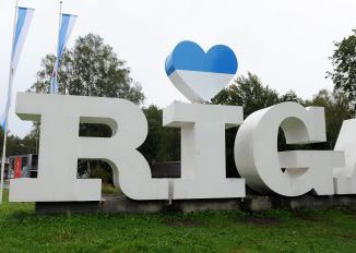 Riga sign. Photo BNN