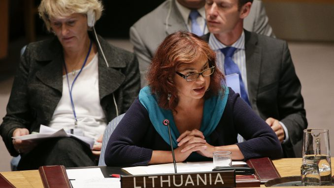 Lithuanian Ambassador to the United Nations Security Council Raimonda Murmokaitė