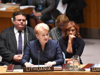 Lithuanian foreign minister, president and ambassador at UN Security Council