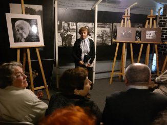 Rachil Kostanian - one of the founders of the Museum and the Holocaust Exhibition welcomes all guests and shares her memories about Dmitri Gelpern