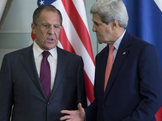 Russian Foreign Minister Sergei Lavrov and US State Secretary John Kerry