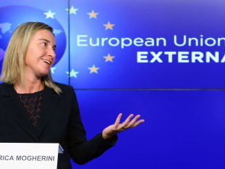 EU external policy chief Federica Mogherini