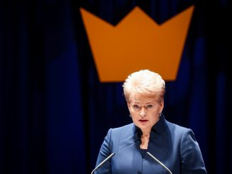 President Dalia Grybauskaitė at the Swedish Business Awards 2014