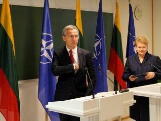 Jens Stoltenberg and Dalia Grybauskaitė