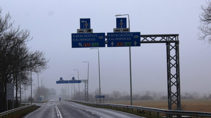 Near Panemunė border checkpoint