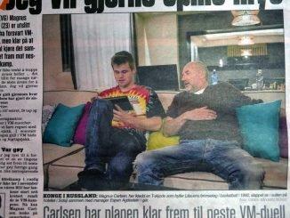 Magnus Carlsen interview in VG