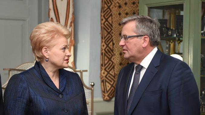 Dalia Grybauskaitė and Bronislaw Komorowski