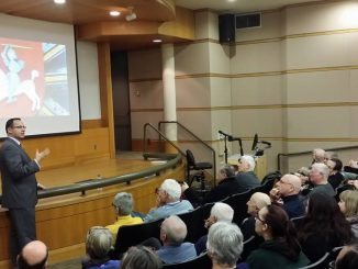 His Excellency's presentation, Russia and the Near Abroad, drew an auditorium full of Portland State University students and community members. Photo by Randy Miller