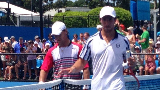 Ričardas Berankis takes on Dutchman Igor Sijsling at Australian Open. Photo by Alex Tigani
