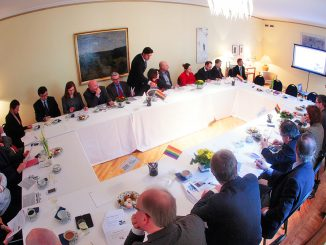 LGL meeting at the Swedish ambassador's residence. Photo by LGL