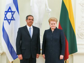 Presentation of credentials by Israeli Ambassador Amir Maimon. Official photos by Robertas Dačkus