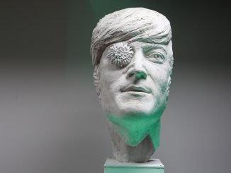 Plaster model for the John Lennon sculpture