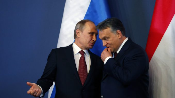 Russian President Vladimir Putin and Hungary's Prime Minister Viktor Orban