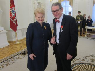 Dalia Grybauskaitė ir Arvidas Bryne'as. Geiro Bolstado nuotr.
