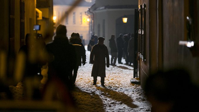 The shooting of BBC's War & Peace in Vilnius