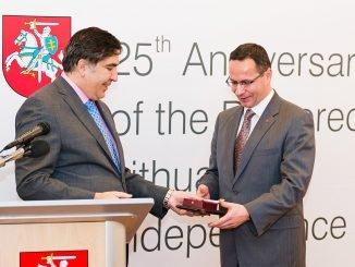 Mikheil Saakashvili and Žygimantas Pavilionis