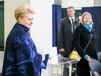 President Grybauskaitė used the opportunity to cast an early vote