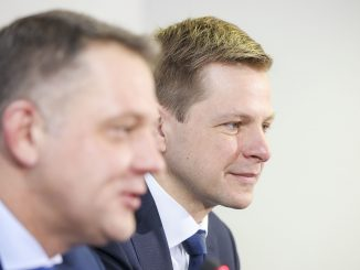 Eligijus Masiulis and Remigijus Šimašius in March 2016