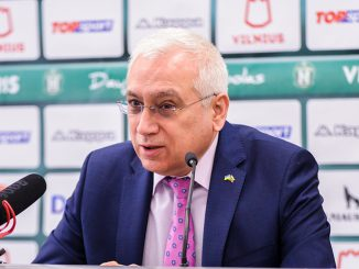 Ambassador Valeriy Zhovtenko (Photo V. Aleksandravičius)